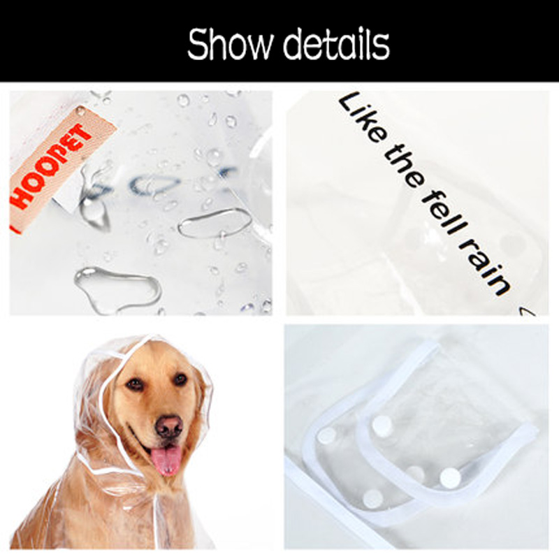 HOOPET Dog Raincoat big Dog Medium sized Dogs Pet Waterproof Clothing Jacket Clothes Puppy Casual in Dog Raincoats from Home Garden