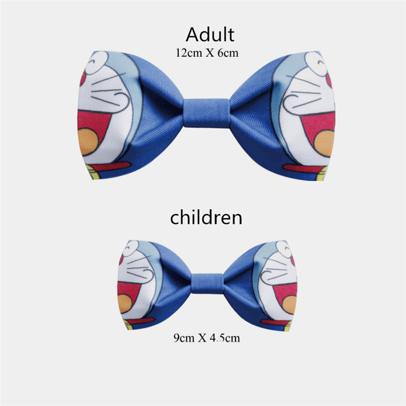 Japanese Anime Doraemon Handmade Cartoon Tie Adult Children Bow Tie Exquisite Packing Cosplay Birthday Present New Year's