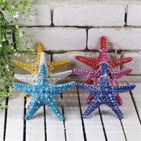 13*13cm creative Colorful Starfishe DIY Artificial Natural Finger sea star wedding Home Bar Wall Decorative crafts
