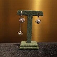 Local focal multicolour ball asymmetry Drop Earrings