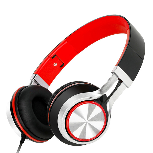 Sound Intone HD200 Headphones with Microphone Foldable Music Bass Stereo Wired Headsets for Computer PC Phone Over-Ear Headphone