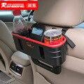 Organizador do assento de carro veículo balde grande capacidade de suporte para bebidas no carro com alça conveniente acessórios do carro