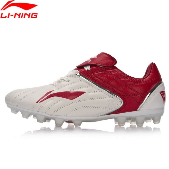 bfeec98d849 Li-Ning Men TIE SERIES Soccer Shoes Kangaroo Leather Wearable Anti-Slippery  Footwear Li Ning Sports Shoes Sneakers ASFM013