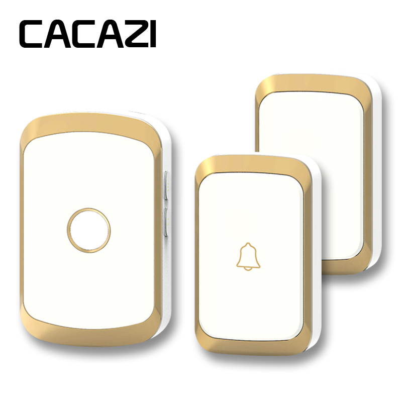 CACAZI newest wireless doorbell waterproof AC 110-220V 300M remote door bell 2 buttons+1 receiver 36 melody 4 volume door chime cacazi dc wireless doorbell need battery 150m remote waterproof gate door bell chime ring wireless 36 tunes 1 emitter 2 receiver