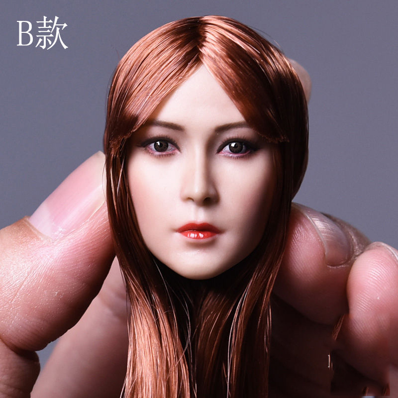 1/6 Scale Female Custom Head Sculpt Asia Girl Head W Straight Hair D-008 Fit 12 Female pale Colo Action Figure Doll 1 6 scale figure accessories doll female head for 12 action figure doll head shape fit phicne