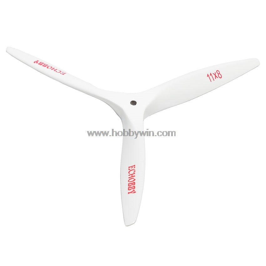 11x8 wood propeller CCW 3 blade white wooden engine blade for RC Nitro Gas power model airplane