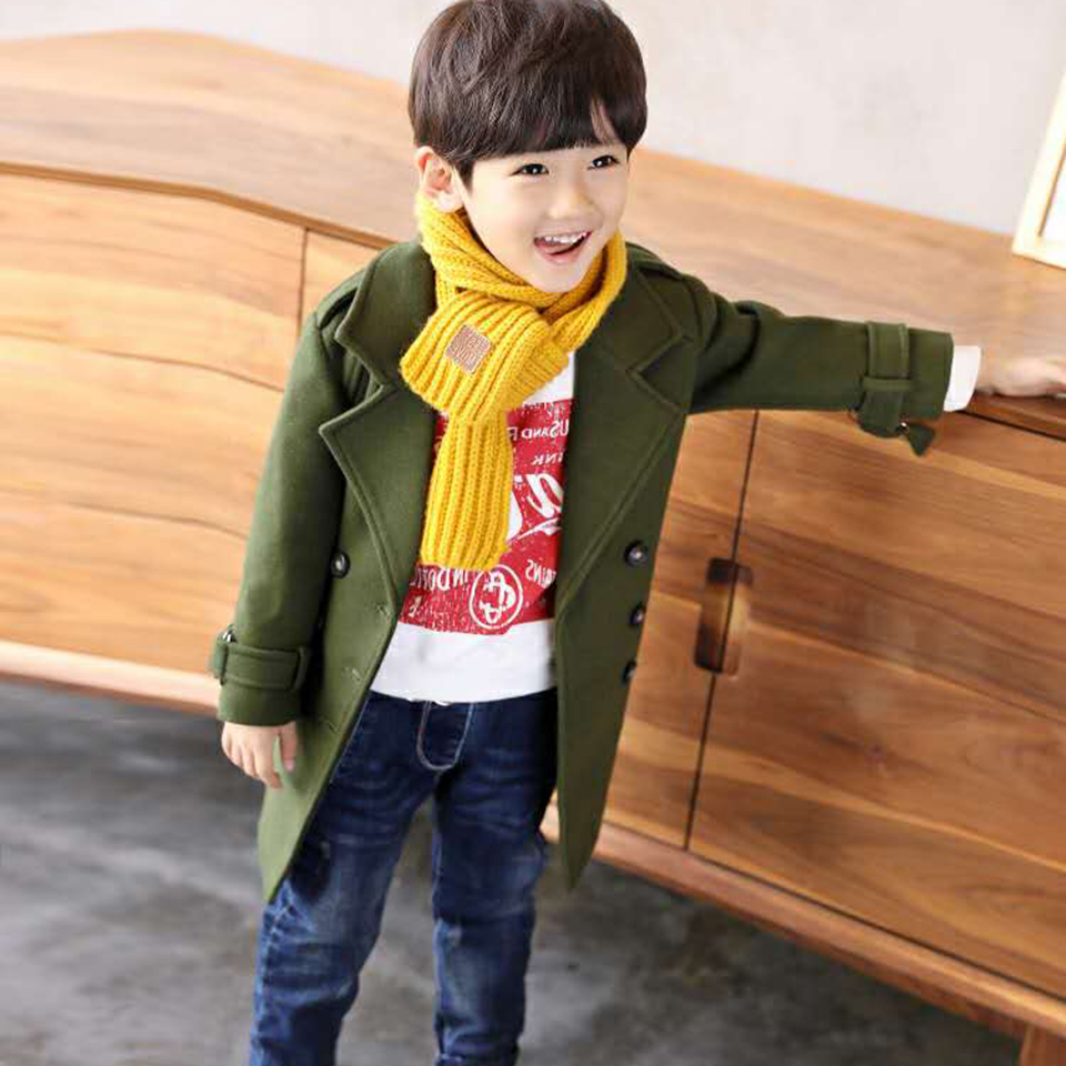 New Winter Casual Kids Clothes Warm Baby Boys Coats Jacket For Boys Warm Woolen Thick Clothing Solid Color Children Outerwear wool coat for boys woolen outerwear boys winter jacket children clothing warm boy blazer thicken kids clothes b051