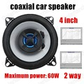 Un par de 2 vías de 4 pulgadas 2x60 W Car Styling car audio Altavoz altavoces Coaxiales de Coches General todos los coches