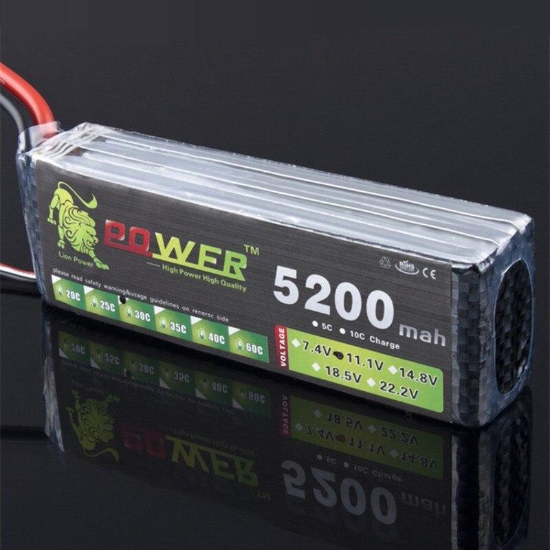 Lion Power 3 S Lipo batterie 11.1 V 11.1 V 5200 MAH 30C MAX 35C LiPo RC batterie pour Rc hélicoptère voiture bateau 3 S Lipo 11.1-in Batteries rechargeables from Electronique    1