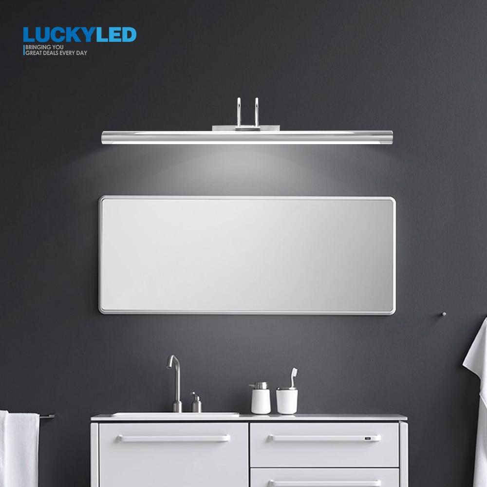 LUCKYLED Led Bathroom Light Wall Lamp 8W 12W AC85-265V Modern Led Mirror Light Waterproof Wall Mounted Wall Light Fixture