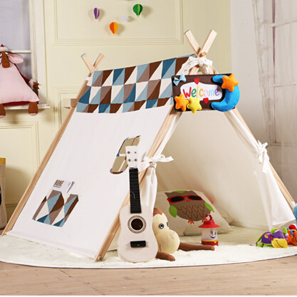 100% cotton canvas tent A frame tent game house tents for kids-in ...