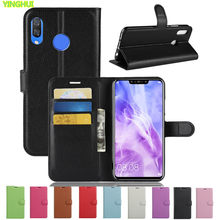 Huawei P Smart Plus Case Huawei P Smart + Case Luxe Wallet PU Leather Case Voor Huawei PSmart Plus Telefoon back Cover(China)