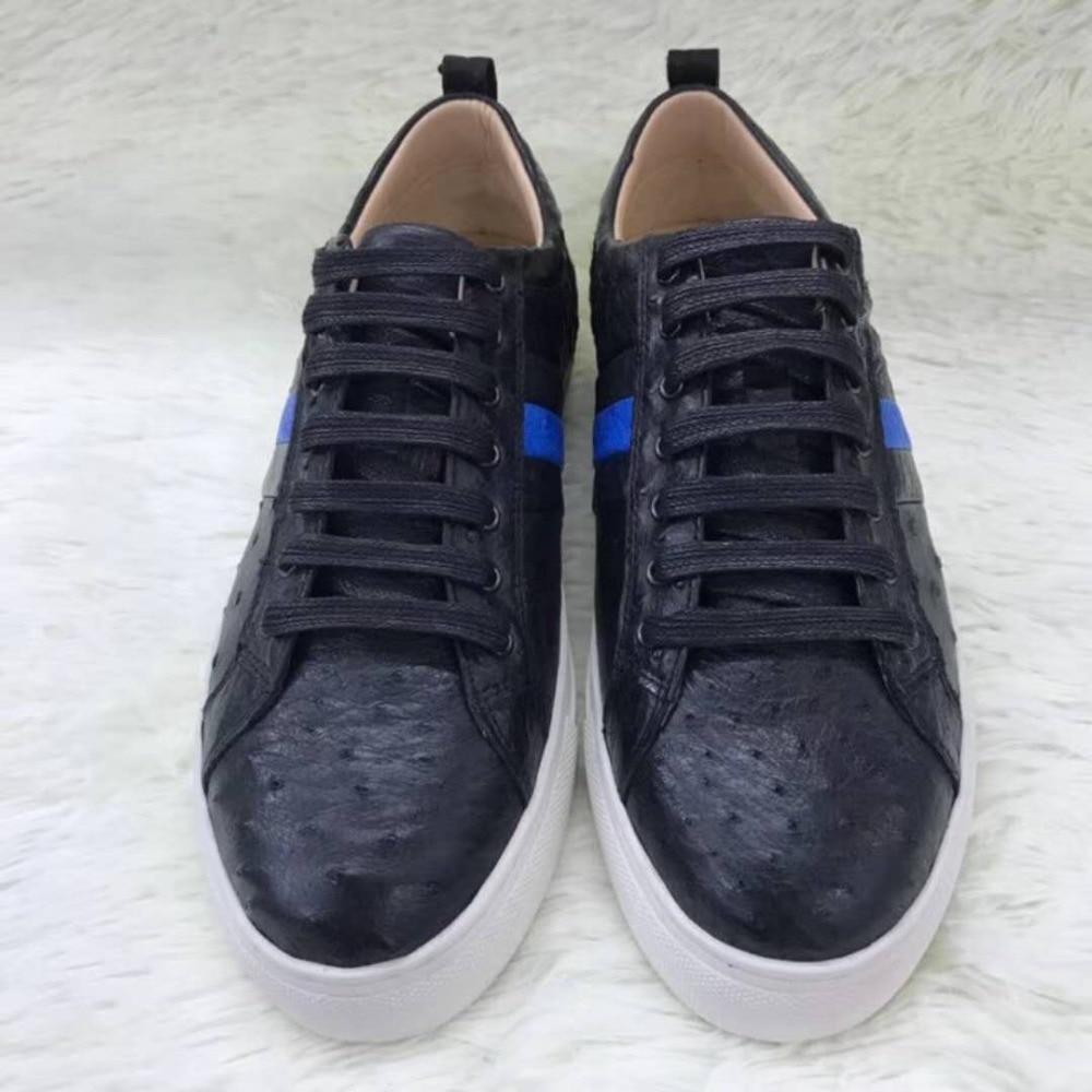 Futter Weiche Männer Haut Echtes In Basis Straußen Schwarz Real Durable Farbe Kuh Ostrich 100 Schuh Weiß Leder Freizeit xSOgwqg4