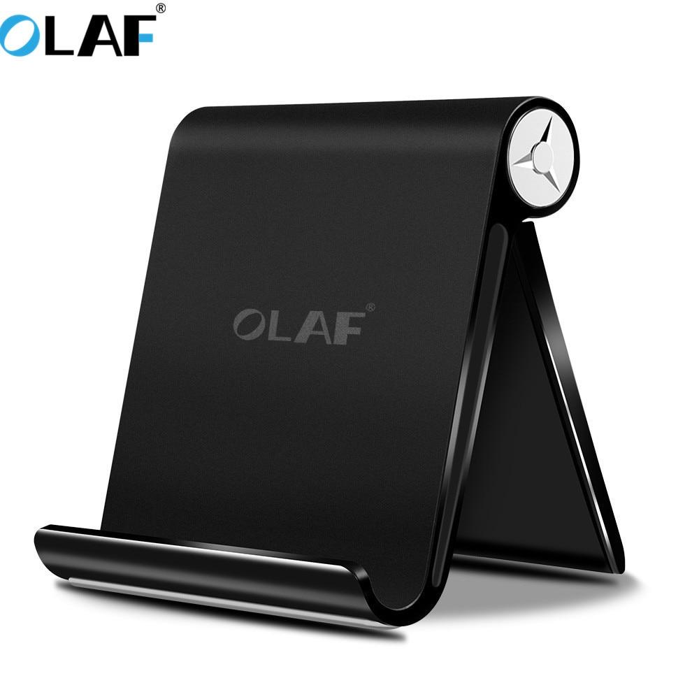 Олаф Телефон держатель для iPhone X 8 7 для iPad Универсальный Регулируемый складной мобильного телефона Tablet стол подставка держатель крепление