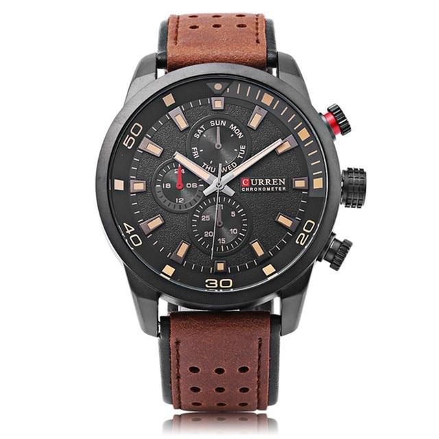 eb03cc039b1 CURREN marca de topo nova moda casual homens relógio de pulso de quartzo  relojes pulseira de