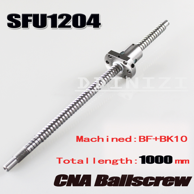 SFU1204 Rolled Ballscrew Set :1pcs SFU1204 -L1000mm + 1pcs ballnut for RM1204 cnc parts Free shipping free shipping 1pcs bsm200gb120dlc