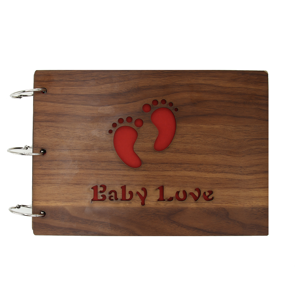 10 inch Wood Cover <font><b>Albums</b></font> Handmade 30 Pages Loose-leaf Pasted Photo <font><b>Album</b></font> For Baby growing up lovers photo <font><b>album</b></font> <font><b>scrapbooking</b></font> image
