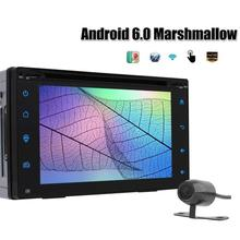 Touch Screen Car Stereo GPS Navigator 2Din Android 6.0 DVD Player Radio GPS Navigation FM Bluetooth WIFI USB SD Rear View Camera