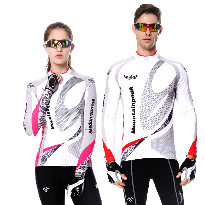 Mountainpeak Quick Dry Breathable Cycling Jersey Long Sleeve Summer Men's Shirt Bicycle Wear Racing Tops Cycling Clothings mountainpeak 2017 long sleeve autumn cycling jersey sets women quick dry breathable bike bicycle clothing equipment 2017 new