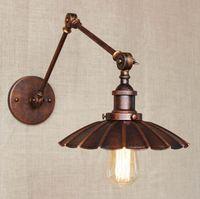 Işıklar ve Aydınlatma'ten Duvar Lambaları'de Retro RH Loft Tarzı Endüstriyel Vintage Lambaları Duvar Işıkları Edison Duvar Aplikleri Lamparas De Pared  Ev Aydınlatma