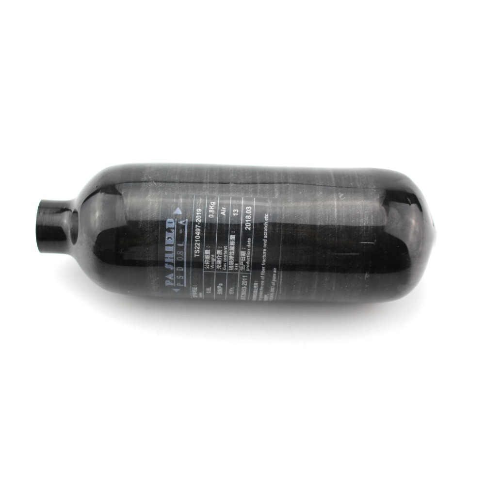 PCP Paintball Airsoft Airforce Scuba 300Bar 0.8L Carbon Fiber Tank Light Durable 30mpa 4500psi M18x1.5 High Pressure Cylinder