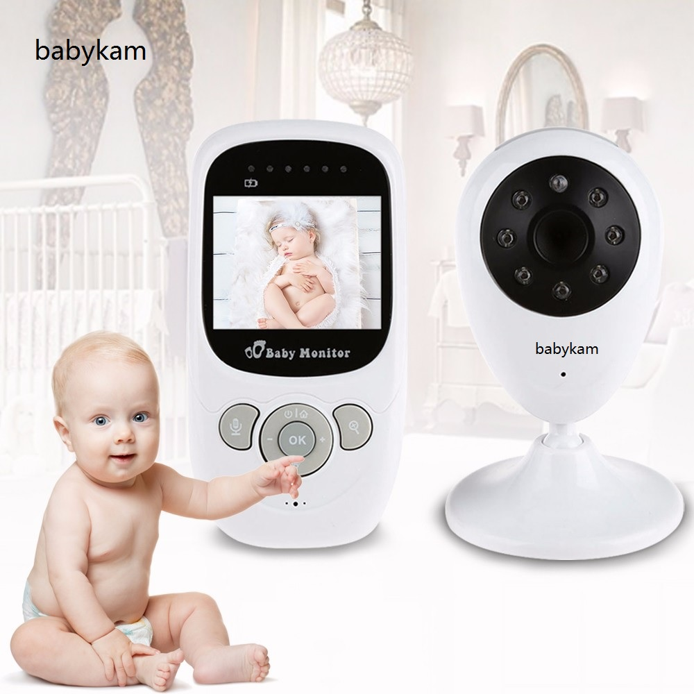 babykam baby monitor with camera 2.4 inch IR Night Light Vision Intercom 2X Zoom Temperature Sensor Lullabies baby video monitor