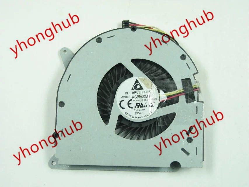 Delta Electronic KSB0605HB BC18 DC 5V 0.60A 4-wire Server Laptop FAN