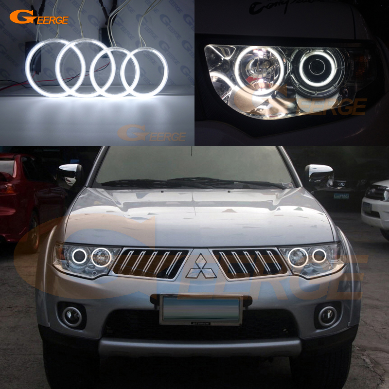 Pour Mitsubishi Challenger Pajero Sport 2008-2014 Excellente illumination de phare ultra-lumineuse Kit CCFL Angel Eyes Halo Ring