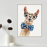 Deer Wearing Bow Tie Diy Diamond Painting Simple Modern Style Cross Stitch Embroidery Full Round Drill
