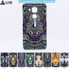 LUXO Original Floresta rei cabeça de animal enfrenta impressão rígido pc tampa do telefone para Huawei G9 Mais Nova Mais caso