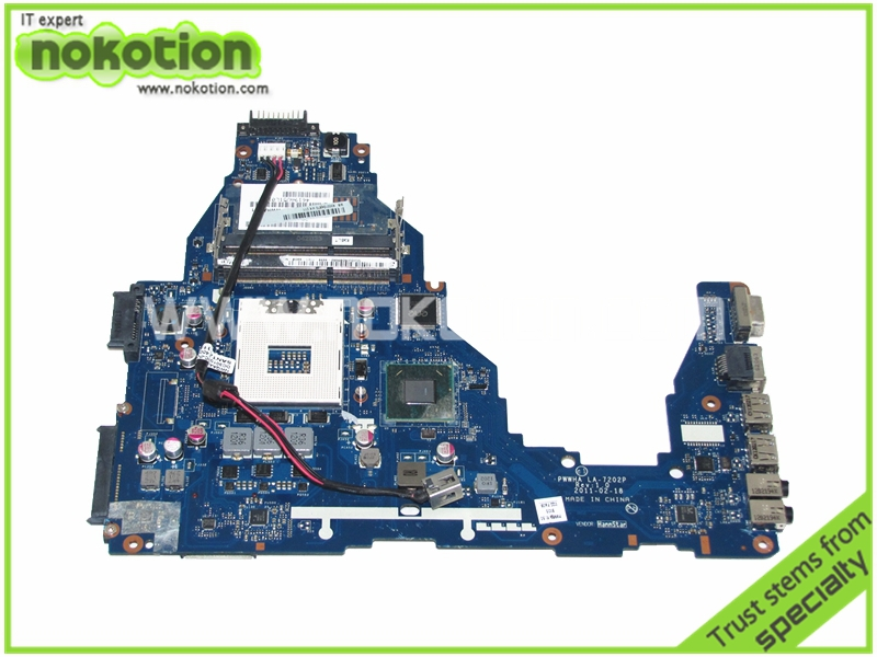 NOKOTION K000124370 LA-7202P MAINBOARD for toshiba satellite C660 laptop motherboard Intel HM65 GMA HD3000 DDR3 for toshiba satellite l745 l740 intel laptop motherboard a000093450 date5mb16a0 hm65 tested