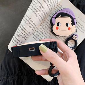 Image 4 - 3D Leuke Cartoon Fujiya Meisje Jongen Melkachtige Poko Siliconen Oortelefoon Cases Voor Apple Airpods 1 2 Shockproof Bescherming Cover Accessoires