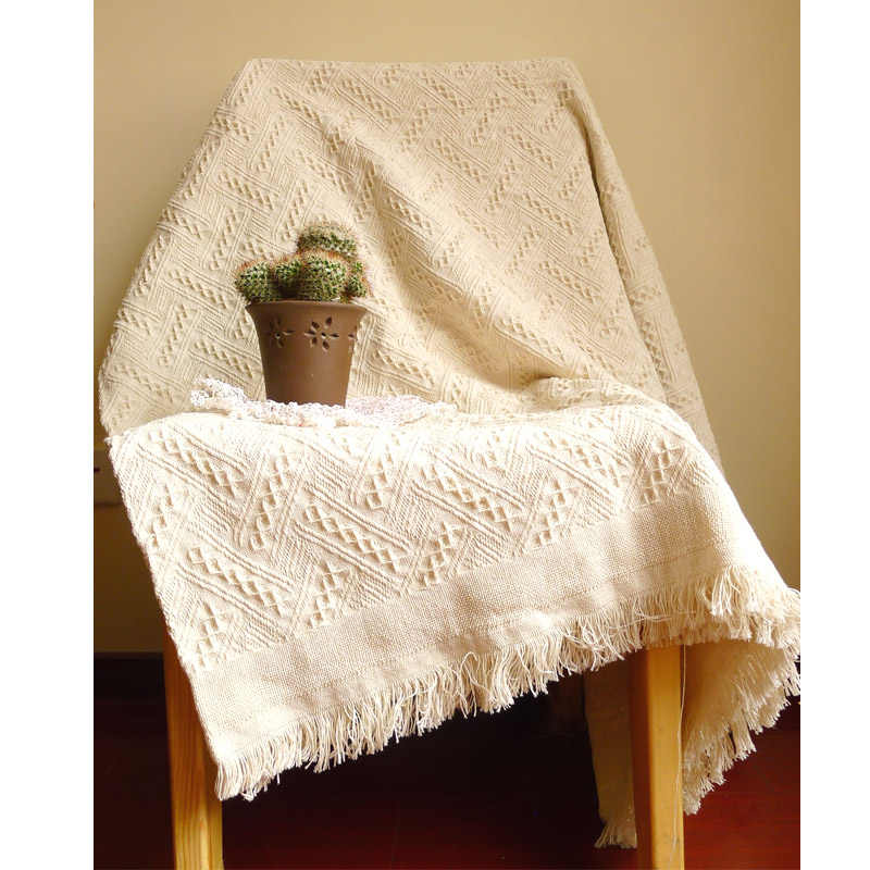 New American adult Knitted Throw Blanket solid white  blanket throw Home Cover beach travel bed sofa Use  wholesale FG1096