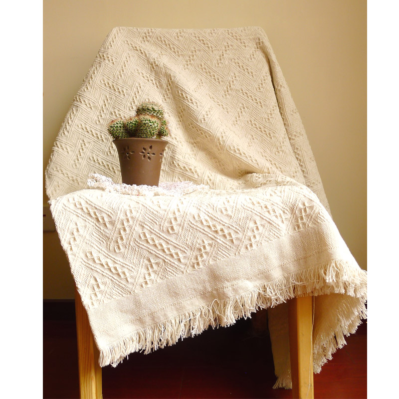 New American adult Knitted Throw Blanket solid white blanket throw Home Cover beach travel bed sofa Use wholesale FG1096(China)