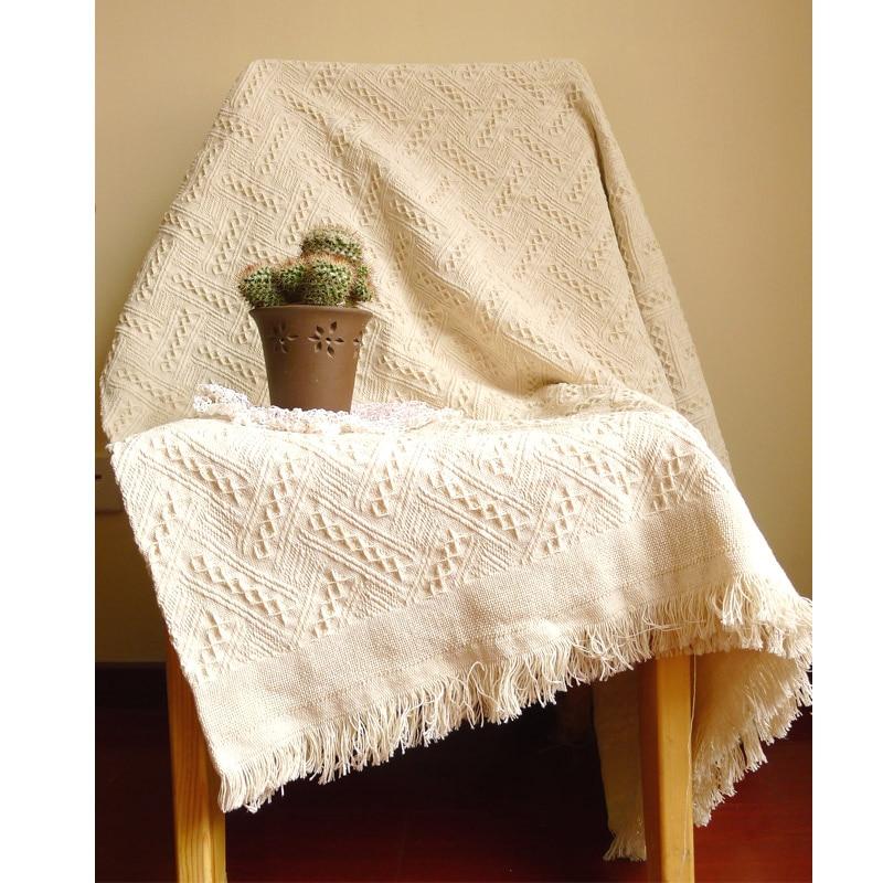 Nieuwe Amerikaanse Volwassen Gebreide Gooi Deken Effen Witte Deken Throw Home Cover Strand Reizen Bed Sofa Gebruik Groothandel Fg1096 Elegant En Sierlijk