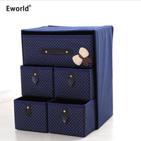 Eworld 3 Layer 5 Lade Ondergoed Beha Organisator Opbergdoos Lade Closet Ingedeeld Diversen Organisatoren Voor Ondergoed Sjaal Sokken