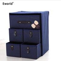 Eworld 3Layer 5Drawer Underwear Bra Organizer Storage Box Drawer Closet Classified Sundries Organizers For Underwear Scarf Socks
