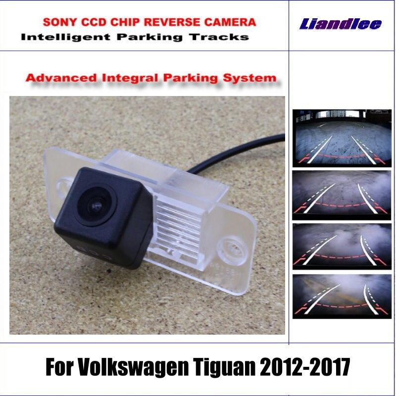 Caméra de recul intelligente pour Volkswagen Tiguan 2012-2017 vue arrière sauvegarde/580 lignes de télévision pistes de guidage dynamiques