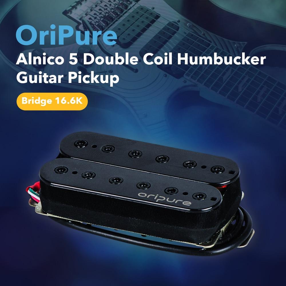 OriPure Bridge Electric Guitar Pickup High Output Vintage Alnico 5 Humbucker Pickup Black Solid Strong Sound