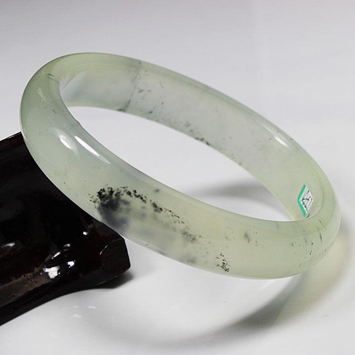 Лидер продаж > @ A 57 прозрачный Китайский зеленый натуральный камень нефрит браслет из драгоценных камней 79 мм нового высокого качества, полы