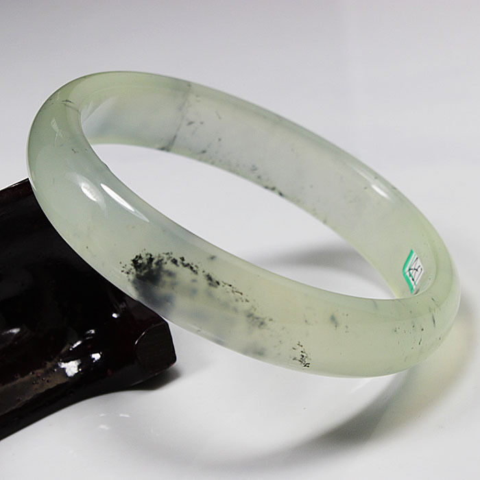 Hot sell >@@ A 57 Translucent Chinese Green Natural stone Nephrite Gems Bracelet Bangle 79mm NEW Top quality Natural