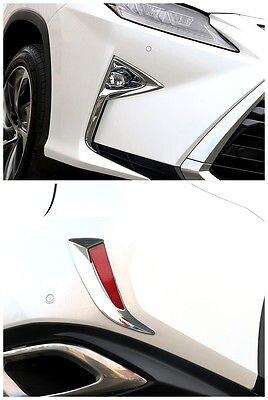 ABS Chrome Front + Rear Fog Light Cover Trim 4pcs for LEXUS RX200t RX450h 2016 lexus lfa