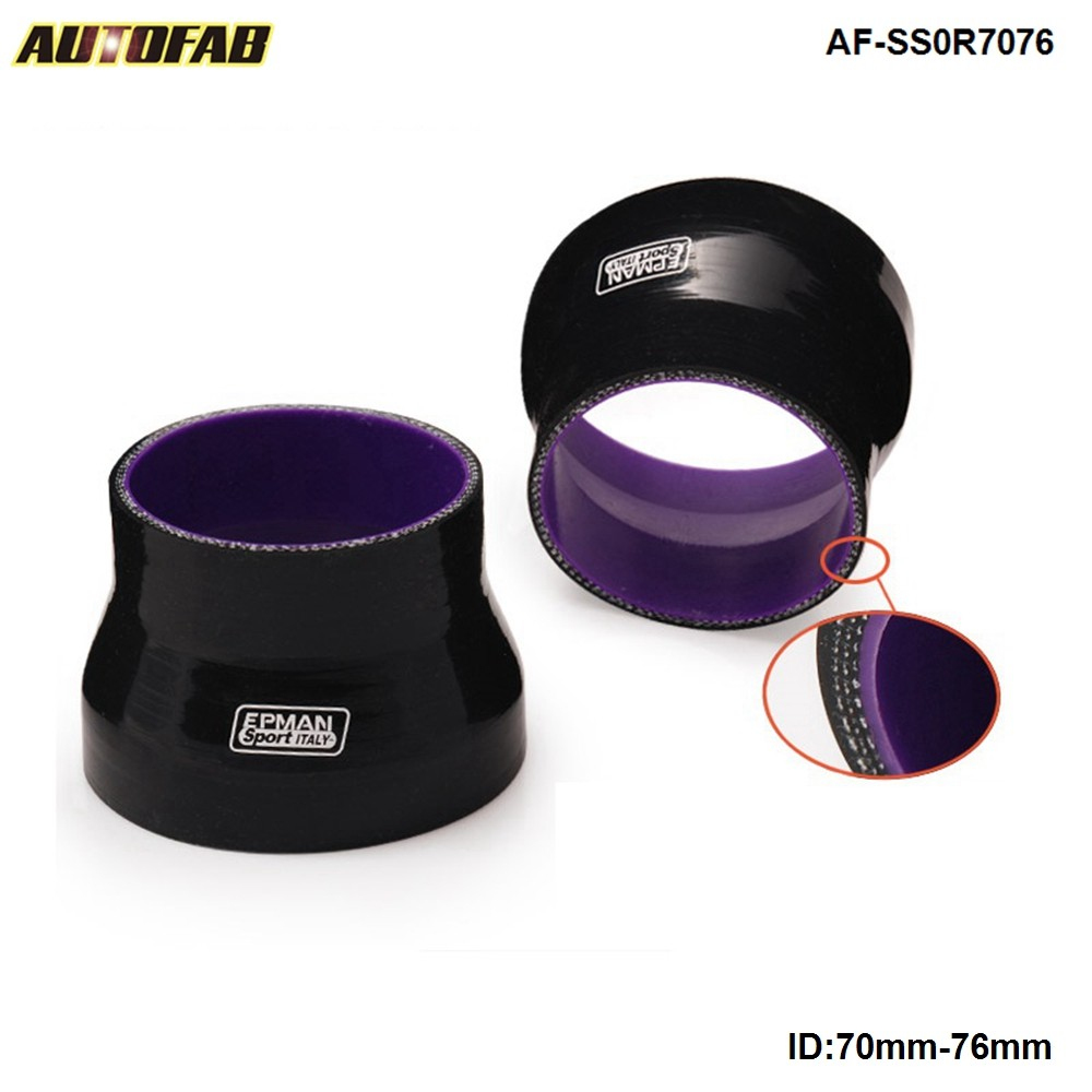 """For ID 3/"""" to 3 1//8/'/' 76mm//80mm Silicone Straight Intercooler Turbo Hose Black"""