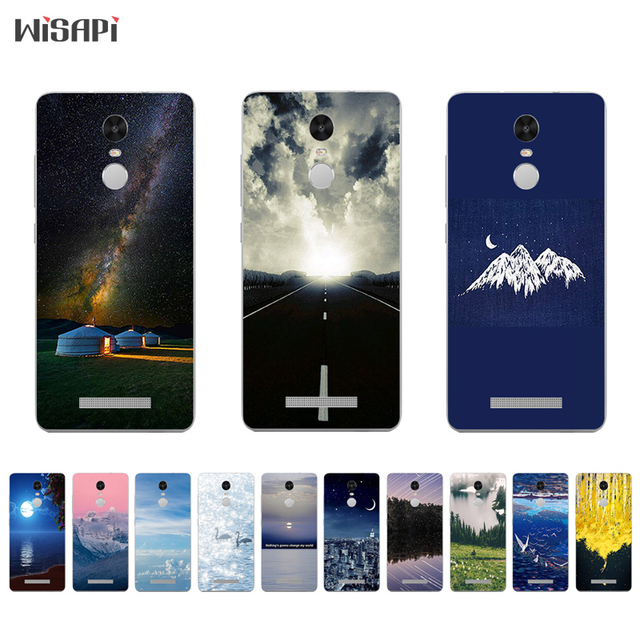 6d757197b9 For Xiaomi Redmi Note 4 4X Silicone Phone Case for Redmi Note3 Back Cover  Thin for Hongmi Note2 TPU Shell Road Landscape Pattern