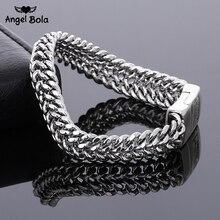 Ancient Silver Fashion Punk 11.5mm Width Buddha Bracelet for Women DIY Bangle Charms Bracelets Men Pulseira Jewelry Gift B1216-7