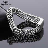 Moda antiga prata punk 11.5mm largura buda pulseira para as mulheres diy bangle encantos pulseiras masculino pulseira jóias presente B1216-7