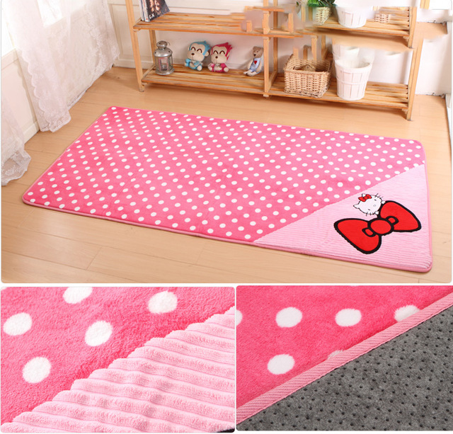 excellent x cm bonjour kitty tapis pour salon tapis et tapis salle de bains tapis enfant dcor. Black Bedroom Furniture Sets. Home Design Ideas