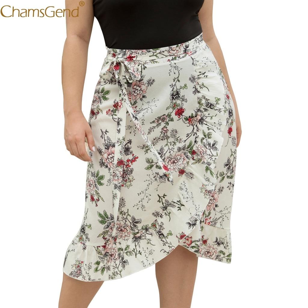Casual Lace Cross Ruffled Summer Skirts Womens Plus Size White Skirts Womens Plus Size Irregular Print Fishtail Skirt Jun