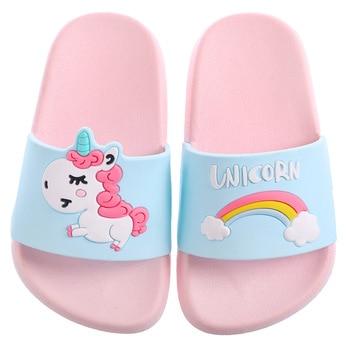 Children Summer Indoor Unicorn Slippers