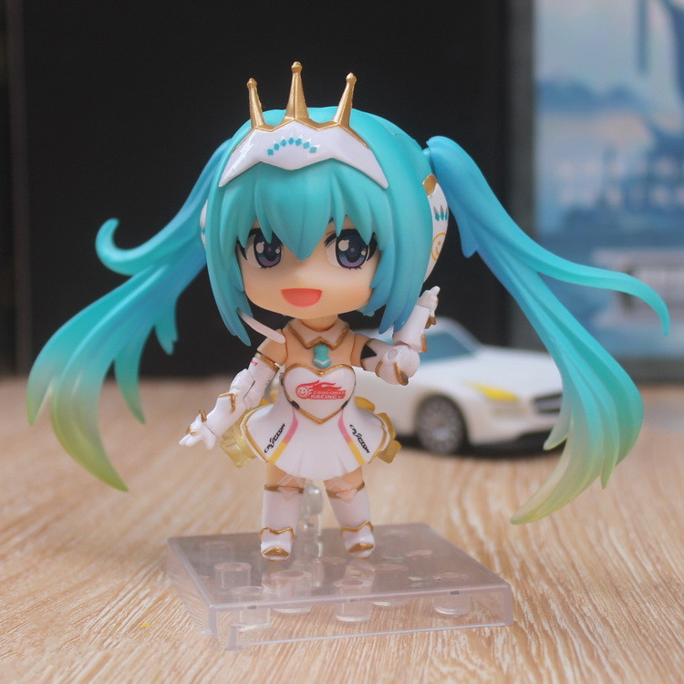 Selfless Nendoroid Hatsune Miku Racing Miku Car Flag #517 Can Change The Face Q-version Pvc Action Figure Collectible Model Toy P293 Action & Toy Figures